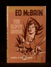 1963 The Empty Hours UK First Edition Ed McBain Mystery Dustwrapper Scarce