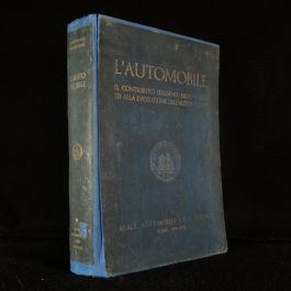 1938 L'Automobile Il Contributo Italiano All' Avvento e All' Evoluzione dell' Autoveicolo