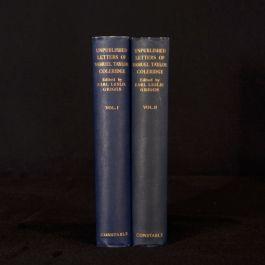 1932 2vol Earl Leslie Griggs The Unpublished Letters of Samuel Coleridge Biog
