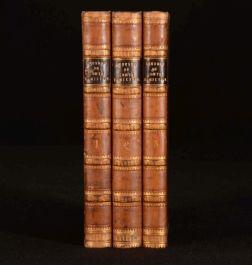 1812 3 Vol Oeuvres du Comte Antoine HAMILTON Illustrated