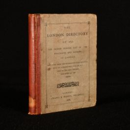1878 The London Directory of 1677