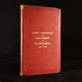1868 Lords, Lieutenants, and High Sheriffs of Oxfordshire