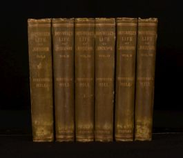 1887 6vol Boswell's Life of Johnson George Birkbeck with Tour to Hebrides