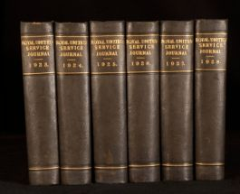 1923-1928 6vol Journal of the Royal United Service Institution Maps Plates