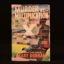 c1948 Murder by Multiplication by Mary Durham Murder Mystery Scarce Dustwrapper