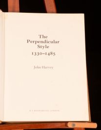 1978 The Perpendicular Style John Harvey Signed First Edition Dustwrapper
