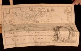 1698 Nouveau Voyage d'un Pais plus Grand que L'Europe Louis Hennepin First