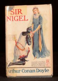 1928 Sir Nigel Arthur Conan Doyle Jacket Art Ryder