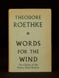 1957 Theodore Roethke Words for the Wind 1st Edition Poetry Collection American