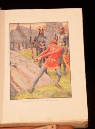1911 King Arthur's Knights Tales Retold Boys Girls Henry Gilbert Walter Crane