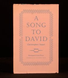 1960 A Song to David Christopher Smart J B Broadbent Limited Edition Dustwrapper