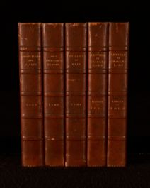 1888-92 5 Vol Charles Lamb Letters Poems Plays Essays of Elia Leicester's School