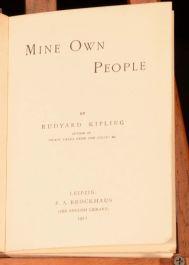 1911 Mine Own People by Rudyard Kipling Fiction Novel India Colonialism