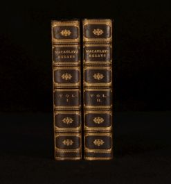 1909 2Vol Critical and Historical Essays Macaulay Smart Institutional Binding