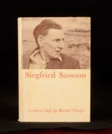 1966 Siegfried Sassoon a Critical Study by Michael Thorpe