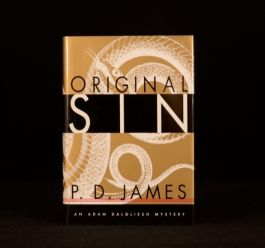 1995 Original Sin P D James First American Edition Dustwrapper Signed