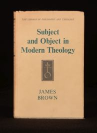 1955 Subject and Object in Modern Theology First Edition Dustwrapper