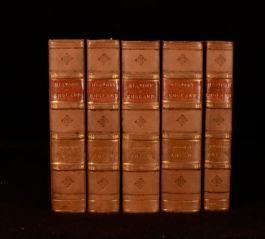 1853 5vol The History of England Thomas Babington Macaulay Ninth Edition
