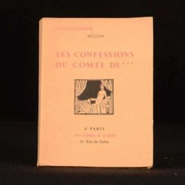 1928 Le Confessions Du Comte De Charles Pinot Duclos Limited Number 2043 of 2530