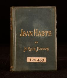 1895 Joan Haste by H Rider Haggard Novel Illustrated Romance Melodrama First