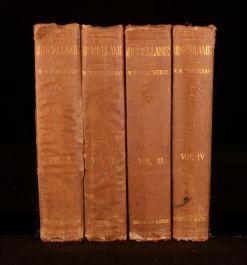 1855 4 Vols W M Thackeray Miscellanies Victorian Poetry Complete