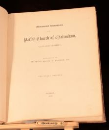 1877 Monumental Inscriptions in the Parish Church of Cheltenham Private Print