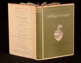 1959 Charles Ryskamp William Cowper Of the Inner Temple, Esq. Literary Criticism