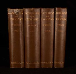 1910 4vol Totemism and Exogamy J G Frazer Superstition and Society Spirituality