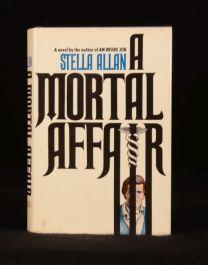 1979 A Mortal Affair Stella Allan Signed US First Edition in Dustwrapper