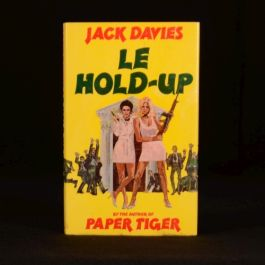 1977 Jack Davies Le Hold Up Signed First Edition Crime Novel
