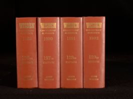 1989-92 4vols Wisden Cricketer's Almanack by John Wisden