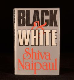 1980 Black and White Shiva Naipaul First Edition Dustwrapper People's Temple