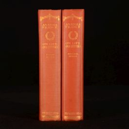 1911-14 2vol On Life and Letters Anatole France First and Second Series