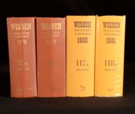 1978-81 4vol Wisden Cricketers' Almanack Sporting Reference Book Norman Preston