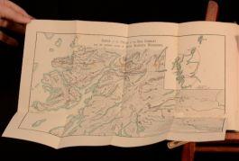 1886 Kidnapped Robert Louis Stevenson First Edition Folding Map David Balfour