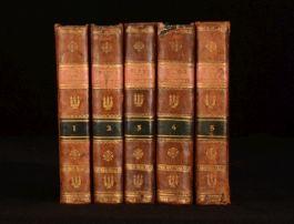 1819 5 Vol Sainte Bible en Latin et en Francais Couteuaut L'Ancien et le Nouveau