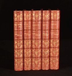 1900-1902 5vol Charles Kingsley Novels Bumpus Bindings Hypatia Poems Alton Locke