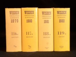 1979-82 4vol SPORT Wisden Cricketers' Almanack Reference Book Norman Preston