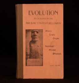 1930 Crump Evolution As Outlined In Archaic Eastern Records Illustrated First