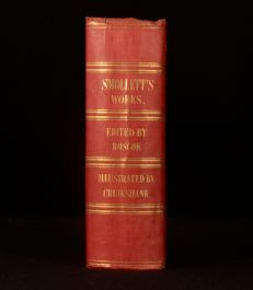 1849 Miscellaneous Works of Tobias Smollett Thomas Roscoe Illustrated Cruikshank