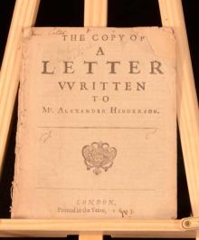 1643 The Copy of A Letter Written to Mr Alexander Hinderson