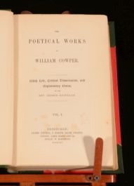 1854 2vols The Poetical Works of William Cowper