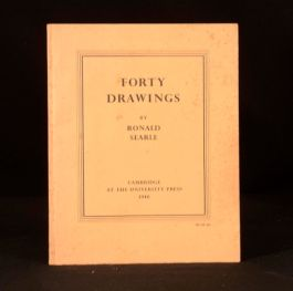1946 Forty Drawings First Edition Ronald Searle Illustrated Cape town Japanese