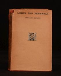 1932 Limits and Renewals Rudyard Kipling First Edition With Dustwrapper