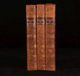 1811 3Vol Inquiry into the Nature and Causes of the Wealth of Nations Adam Smith