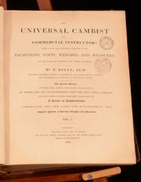 1835 The Universal Cambist and Commercial Instructor P Kelly Coins Weights