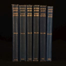 1905 6vol Assorted Annual Reports of the Chemical Society Chemistry