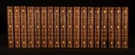 1832-1833 18Vols Maria Edgeworth Tales & Novels Uniformly Bound in Half Calf