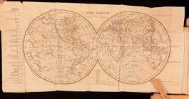1825 The Universal Preceptor or General Grammar By David Blair Illustrated Map
