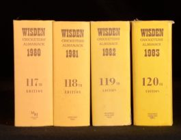 1980-83 4vol Wisden Cricketers' Almanack Sporting Reference Book Woodcock